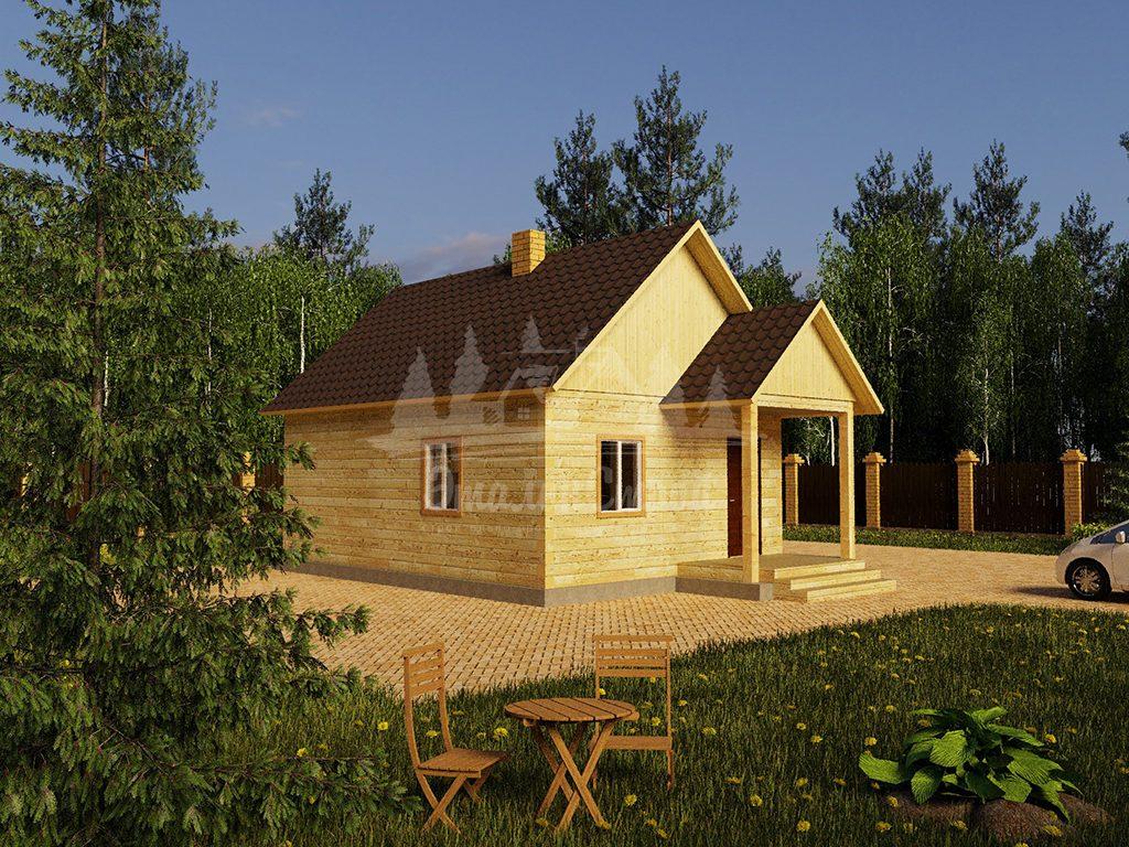 Одноэтажный жилой дом в Чите 48 кв.м