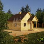 Проект одноэтажного дома из бруса 6х8 (БР-48-4) Фасад 1