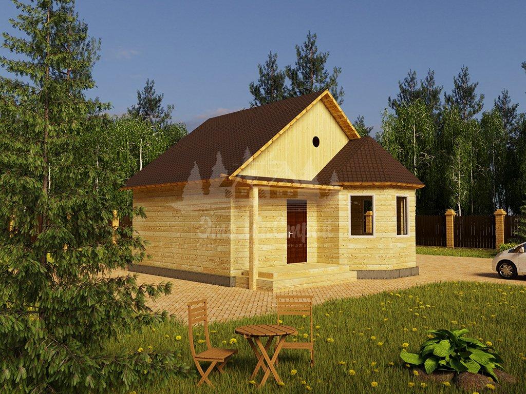 Одноэтажный жилой дом в Чите 56 кв.м