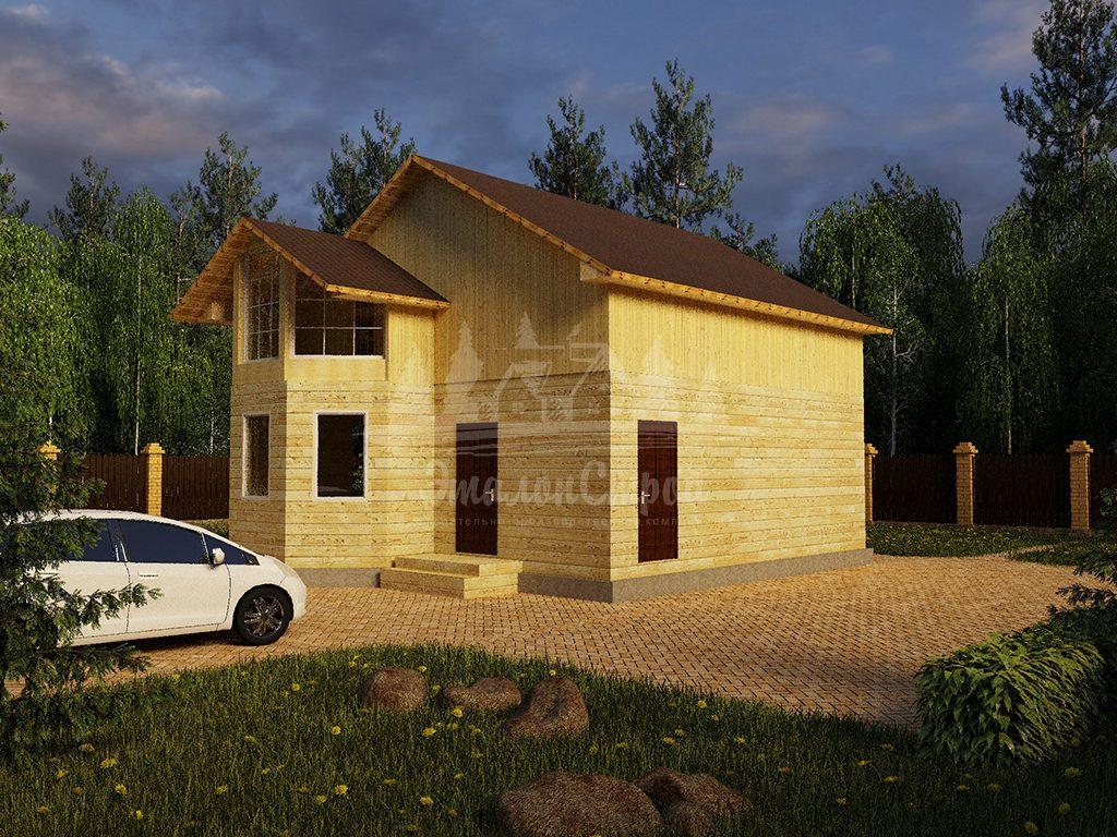 Одноэтажный жилой дом в Чите 72 кв.м с эркером и летней мансардой