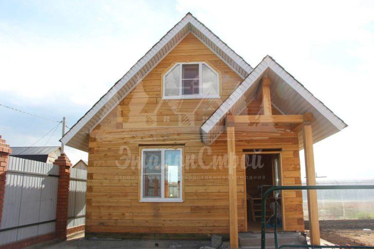 Дом из бруса 45 м2 Процесс строительства 22 ЭталонСтрой