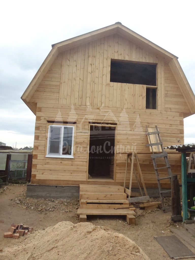 Дом из бруса 48 м2 Процесс строительства 6 ЭталонСтрой