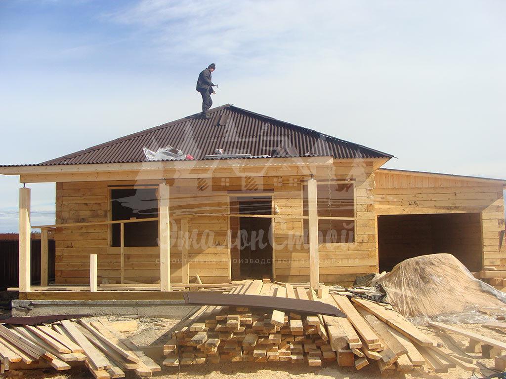 Дом из бруса 80 м2