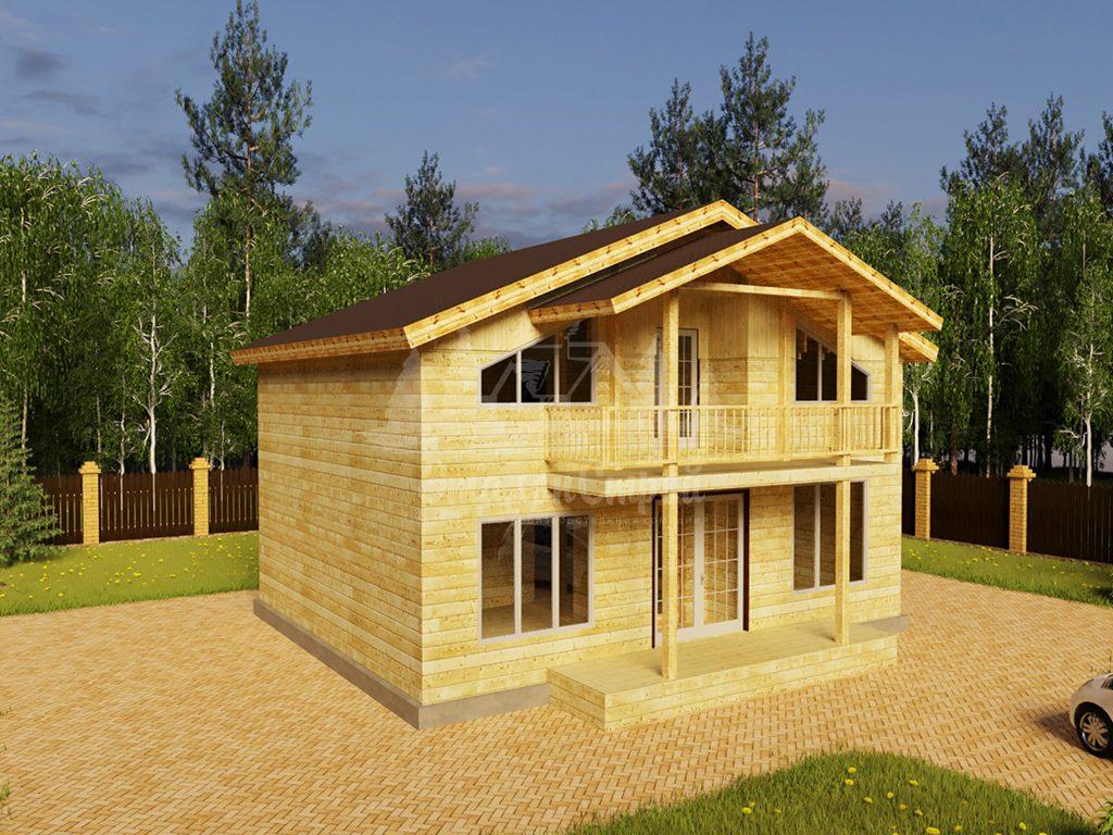 Проект двухэтажного дома из бруса 8х10 (БР-160-2)