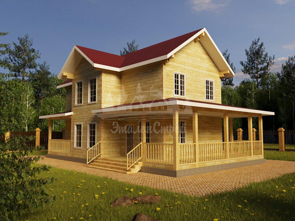 """Проект двухэтажного дома из бруса 9х12 """"Боярин"""" (БР-168-1)"""