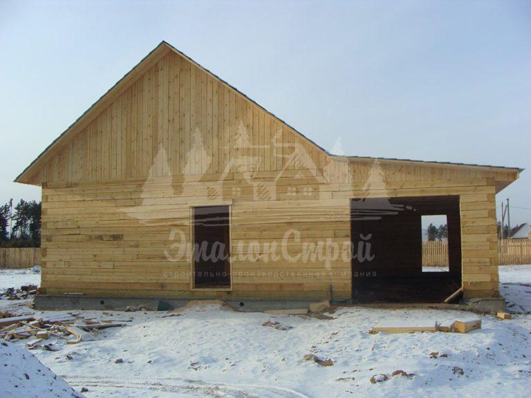 Дом из бруса 64 м2. Процесс строительства 1. ЭталонСтрой