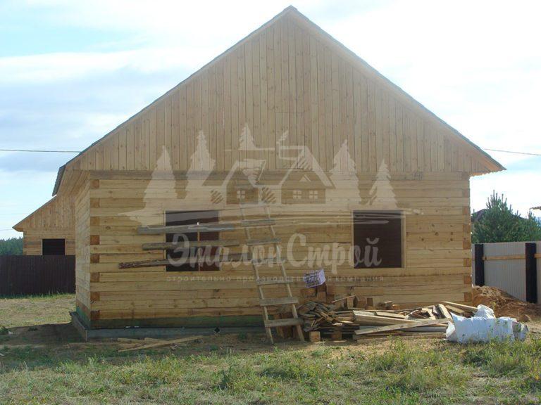 Дом из бруса 64 м2. Процесс строительства 10. ЭталонСтрой
