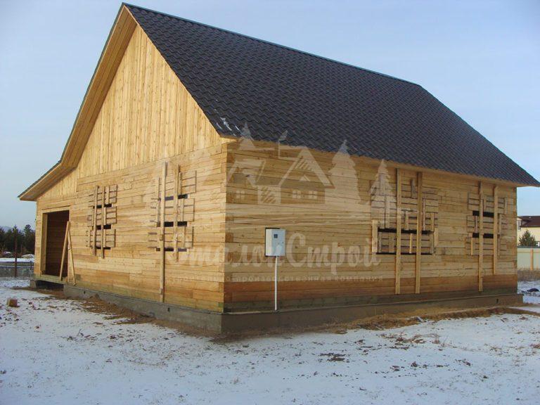 Дом из бруса 80 м2. Процесс строительства 1. ЭталонСтрой