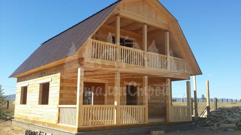 Дом из бруса 96 м2. Процесс строительства 1. ЭталонСтрой