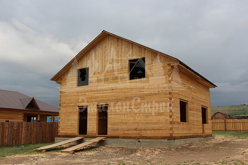Дом из бруса 200 м2 под ключ Черновой вариант дома 1 ЭталонСтрой