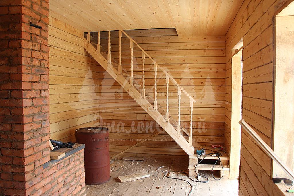 Дом из бруса 36 м2 с мансардой
