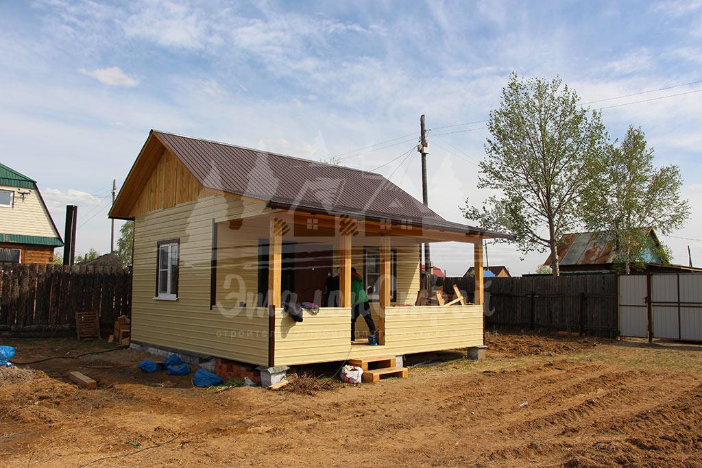 Дом по карскасной технологии 24 м2 Готовая работа 1 ЭталонСтрой