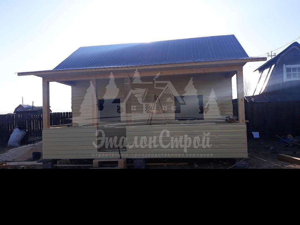 Дом по карскасной технологии 24 м2 Утепление и печка 2 ЭталонСтрой