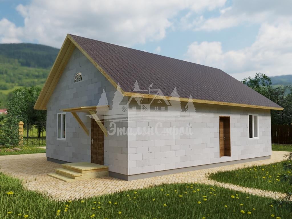 Проект одноэтажного дома из газобетона 10х11 м (ГБ-104-1)