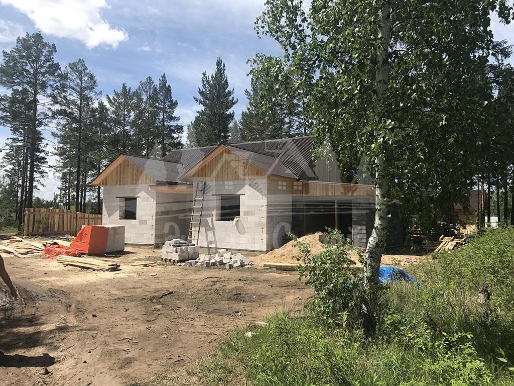 Построенный дом из газобетона 110 м2 готовая работа 10 ЭталонСтрой