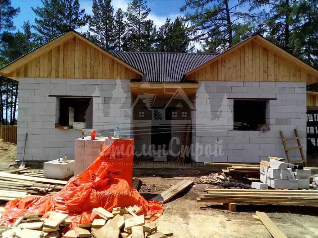 Построенный дом из газобетона 110 м2 готовая работа 3 ЭталонСтрой