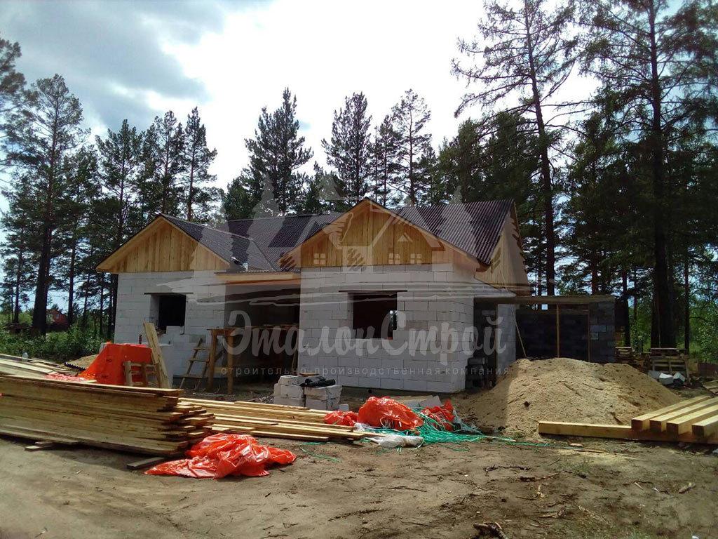 Построенный дом из газобетона 110 м2 готовая работа 6 ЭталонСтрой