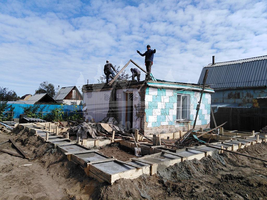 Построенный дом в 2018 с реконструкцией из газобетона