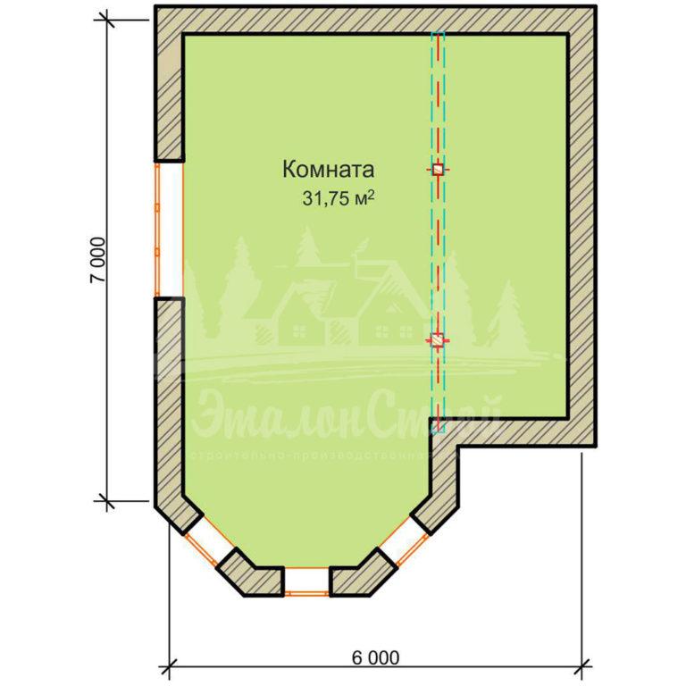 Планировка 2этажа