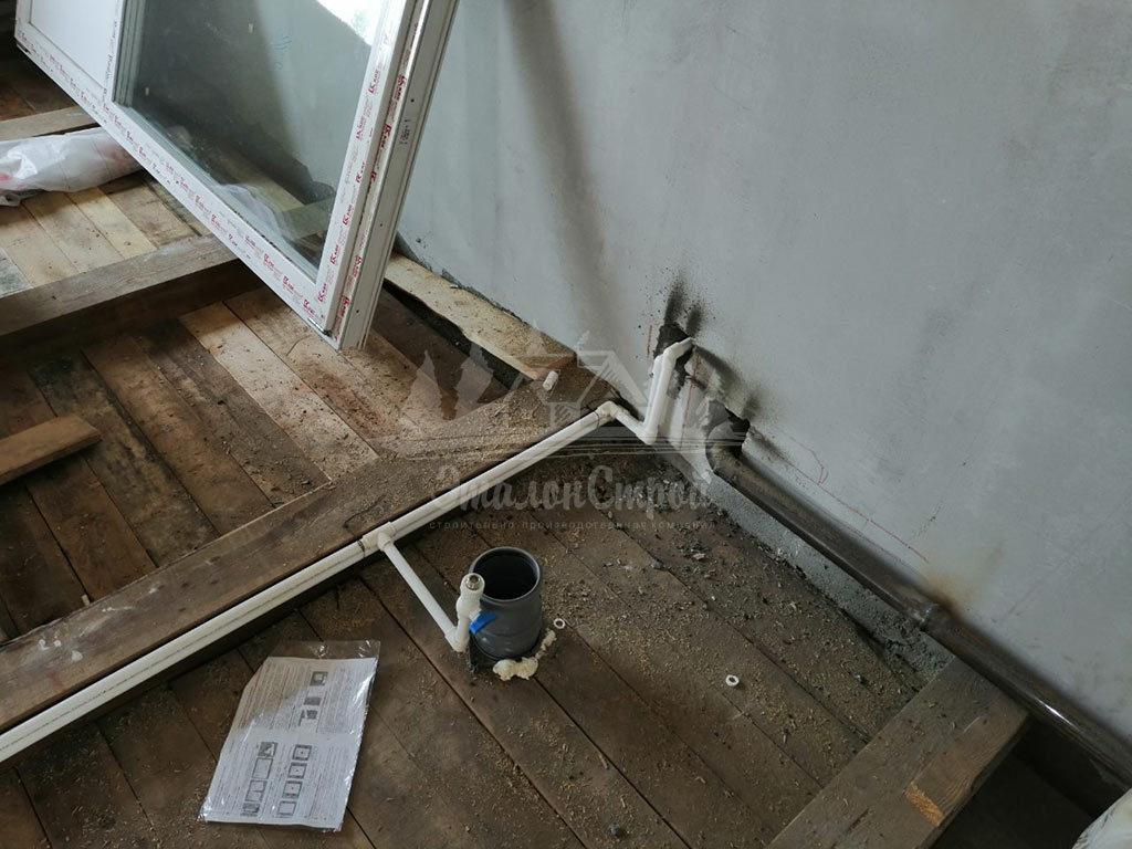 Монтаж системы канализации в частный дом под ключ ЭталонсСтрой 7