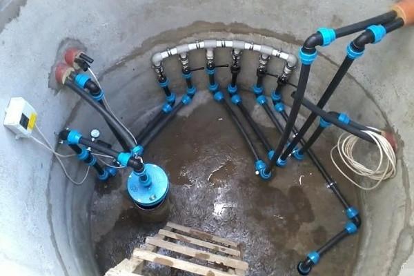 Забор воды из скважины
