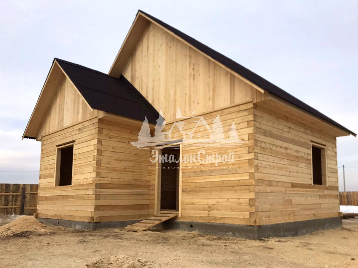 Одноэтажный жилой дом в Чите 50,2 кв.м