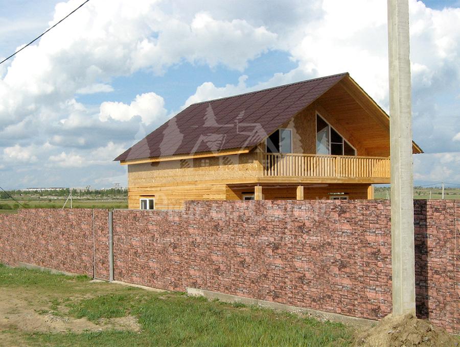 Двухэтажный дом из бруса 128 кв.м с террасами