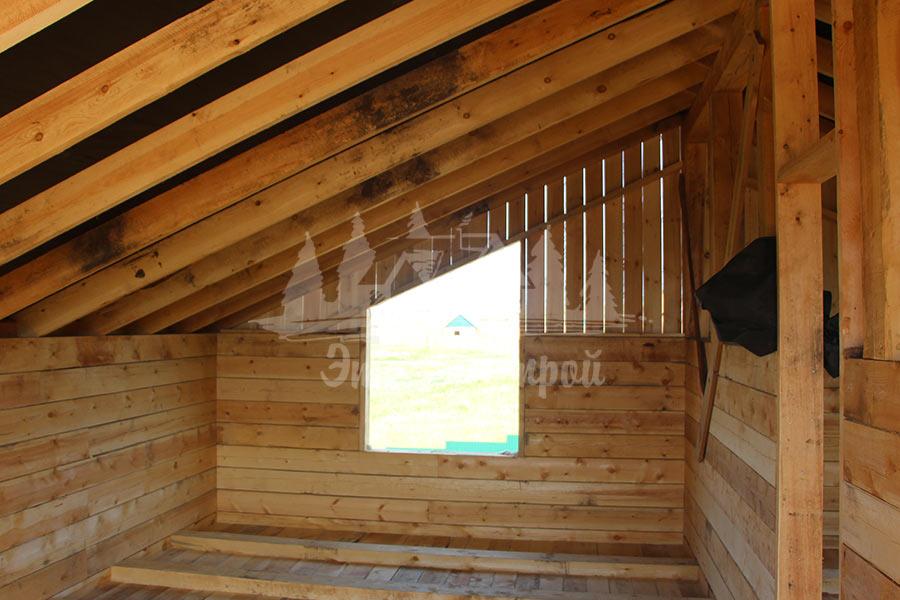 Дом из бруса 128 кв.м с гаражом