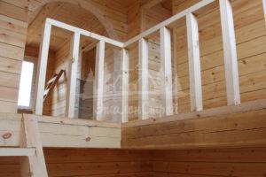 Дом из бруса с эркером и террасой 140 кв.м
