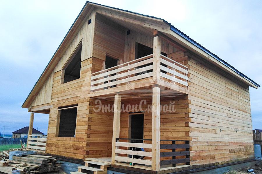 Двухэтажный дом из бруса 144 кв.м