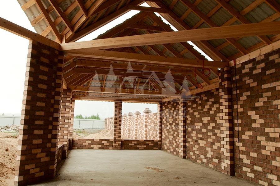 Баня 48 кв.м с зоной барбекю