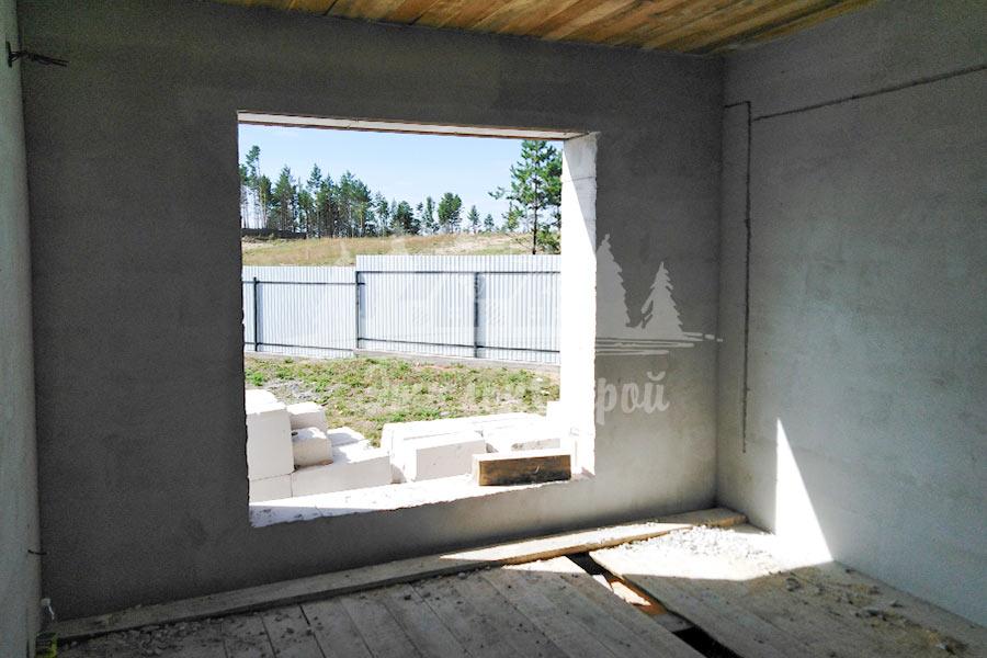 """Дом из газобетона, построен компанией """"Эталонстрой"""""""