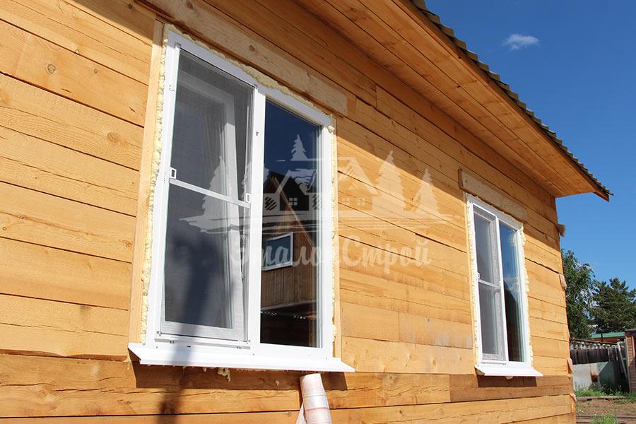 """Дом из бруса, построен компанией """"Эталонстрой"""""""